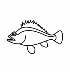 Rose fish sebastes norvegicus icon outline style vector