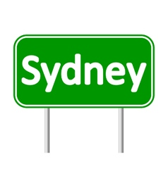 Sydney road sign vector