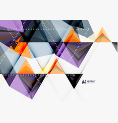 Triangular low poly a4 size geometric vector