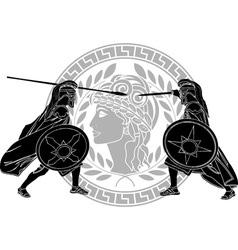 trojan war stencil vector image vector image