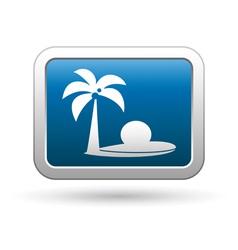Tropical beach icon vector image vector image