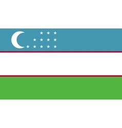 Uzbekistan flag image vector