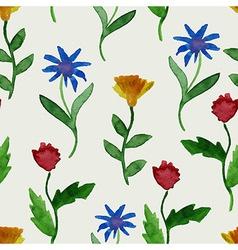 Watercolor summer seamless pattern vector
