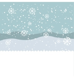 winter season landscape icon vector image