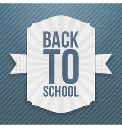 Back to school paper tag vector