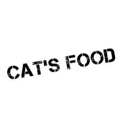 Cat food rubber stamp vector