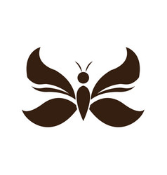 Butterfly wings decoration element emblem vector