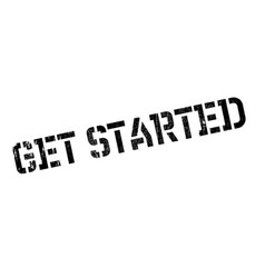 Get started rubber stamp vector