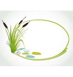 Background with cane ilustration vector image