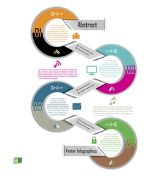 Modern Infographics template Design for business vector image