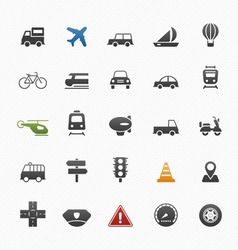 Transport symbol icon set vector