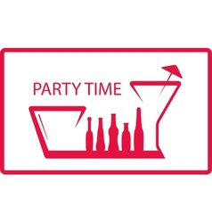 bottle wineglass - party symbol vector image