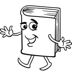 book cartoon coloring page vector image