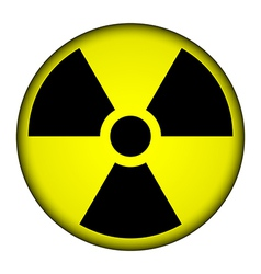 Radiation warning symbol button vector