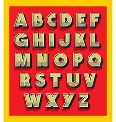 Retro vintage font type alphabet vector