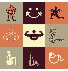 gym logo icons vector image