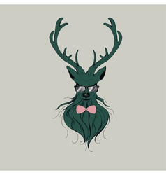 Hipster stag 6 vector