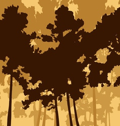 Pine wood and two deer vector