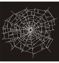 Spider web or broken glass vector