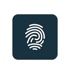 Fingerprint icon rounded squares button vector