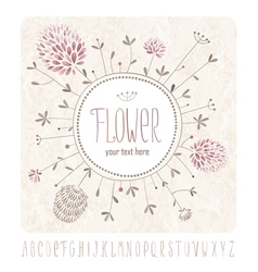 Meadow flowers and alphabet vector image