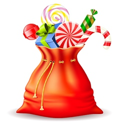 Santas sack with gifts vector
