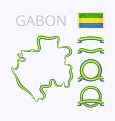 Colors of gabon vector