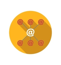 Incoming and outgoing emails flat icon vector