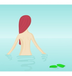 Naked girl bathing vector