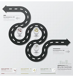 Road and street business infographic vector