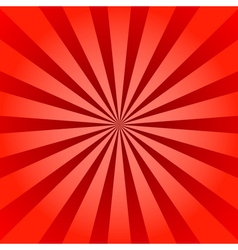 Red rays poster star burst vector