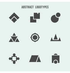 Abstract geometric logo set vector