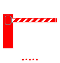 barrier icon color fill style vector image