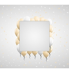 beige balloons and confetti vector image vector image