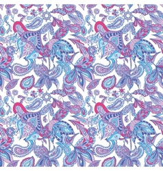 Blue and Pink Ethnic Pattern vector image vector image
