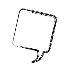 Blurred silhouette square dialog box icon vector