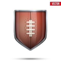 Bright shield in the rugby ball inside vector