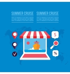 Buying travel tickets online Cruise trip booking vector image vector image
