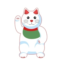 Cat luck japanese culture vector