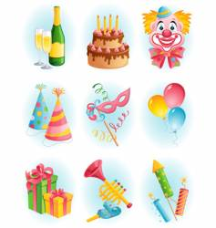 celebration elements vector image vector image