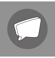 Chat bubble social media vector