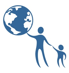 child world protect symbol vector image vector image