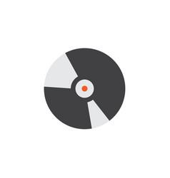 Compact disk flat icon symbol premium quality vector