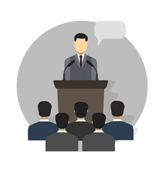 Conference design concept set vector