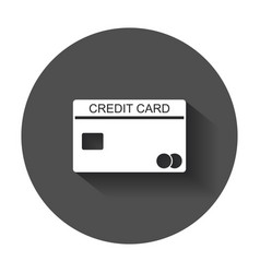Credit card icon banking card in flat style with vector