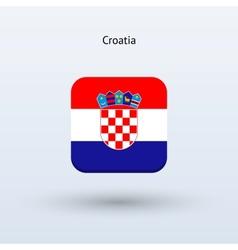 Croatia flag icon vector