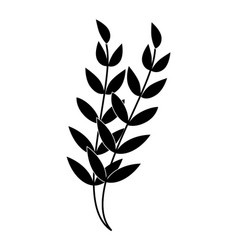 decorative leafs isolated icon vector image