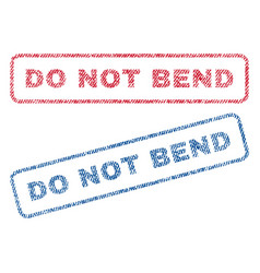 Do not bend textile stamps vector