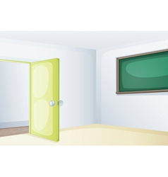 Empty classroom vector