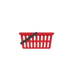 Empty shopping basket icon isolated vector
